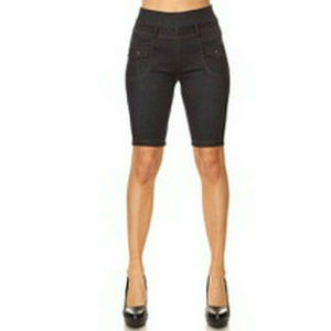 Rico Jean Womens Demin Shorts Jeggings One Size